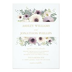 Anemone Bouquet Wedding Invitation - click to get yours right now! #wedding #invitation #weddingideas #weddinginspiration  #flower #floral #botanical #garden #outdoor #nature #romantic #editable