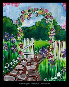 Secret Garden Painting - Jackie Schon, The Paint Bar