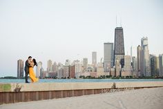 Chicago Engagement Session from Sarah Postma Photography  Read more - http://www.stylemepretty.com/illinois-weddings/2013/11/05/chicago-engagement-session-from-sarah-postma-photography/