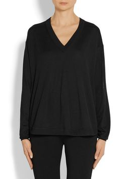 Givenchy | Wool and silk-blend sweater in black | NET-A-PORTER.COM