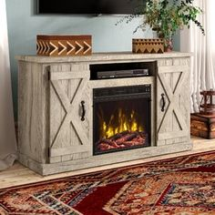 online shopping for Lorraine TV Stand TVs 55 Electric Fireplace Included Laurel Foundry Modern Farmhouse from top store. See new offer for Lorraine TV Stand TVs 55 Electric Fireplace Included Laurel Foundry Modern Farmhouse Electric Fireplace Reviews, Wall Mount Electric Fireplace, Living Room Electric Fireplace, Electric Fireplaces, Vinyl Wall Panels, Wood Panel Walls, Wood Wall, Breakfast Nook Dining Set, Boho Home