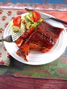 Paleo Sweet & Spicy Glazed Salmon - the preppy paleo
