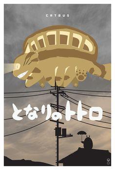Catbus by John Cheng (My Neighbor Totoro - Hayao Miyazaki - Studio Ghibli)