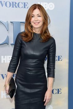 Dana Delany Lookbook: Dana Delany wearing Leather Dress (5 of 5). Dana Delany attended the New York premiere of 'Divorce' sporting a black leather sheath dress.