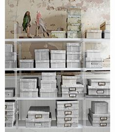 Spring Cleaning: 3 Ideas for Craft Storage and Organization - Craft Room Storage, Storage Boxes, Extra Storage, Storage Ideas, Home Office, Upcycled Home Decor, Repurposed, Newspaper Crafts, Flea Market Finds