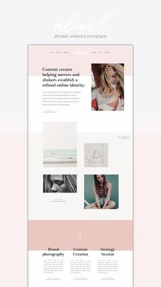 Showit Website Template Abigail for the minimalist creative - Web Design Web Design Trends, Site Web Design, Best Website Design, Beautiful Website Design, Website Designs, Website Ideas, Free Website, One Page Website, Website Themes