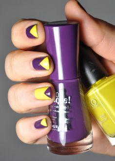 triangles violet et jaune