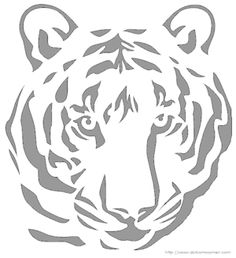 Tiger Face - Free Halloween Pumpkin Carving Patterns