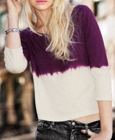 Purple Cropped T-shirt