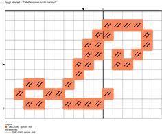 alfabeto maiuscolo corsivo: L