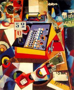 Cash Register 1917 Framed Print by SouzaCardoso Amadeo de Collages, Cubist Art, Abstract Art, Modernisme, Grand Palais, Art Database, Oil Painting Reproductions, Oui Oui, Pictures To Paint