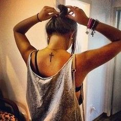 Tattoos & Piercings♡ Ombre Hair black and grey ombre hair Future Tattoos, Love Tattoos, Beautiful Tattoos, New Tattoos, Small Tattoos, Tatoos, Cross Tattoos, Daddy Tattoos, Hair Tattoos