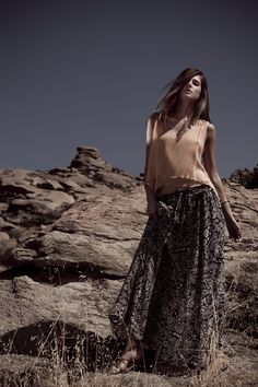 ae79d5bf814 Winter Kate Sati Top   Anila Skirt - House of Harlow 1960 accessories  Printed Maxi Skirts
