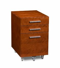 """BDI Sequel Low Mobile Pedestal 6007 - Natural Stained Cherry by BDI. Save 15 Off!. $659.00. Sequel Low Mobile Pedestal features two storage drawers for ample general storage as well as letter/legal file storage. Features locking wheels and is designed to fit neatly under Sequel Desk or Compact Desk. Dimensions: 24""""H x 15""""W x 21""""D"""
