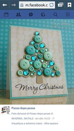 B Make beautiful Christmas cards yourself - Karten - Diy Christmas Cards, Handmade Christmas, Christmas Decorations, Merry Christmas, Christmas Photos, Christmas Buttons, Christmas Button Crafts, Disney Christmas, Funny Christmas