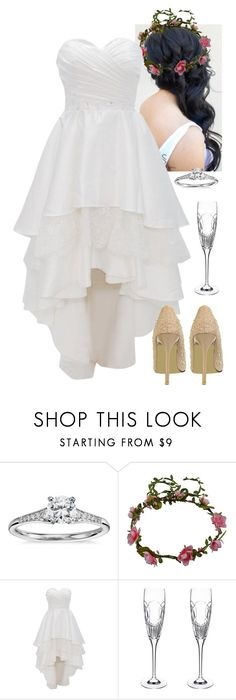 """""""Wedding"""" by werewolf-gurl ❤ liked on Polyvore featuring Blue Nile, Reception and Waterford"""