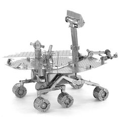 DIY 3D Puzzle Stainless Steel Assembled Model Mars Rover Silver Color