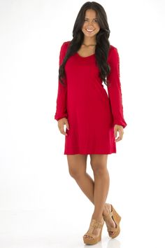 RESTOCK: This Is The Life Dress: Red #shophopes