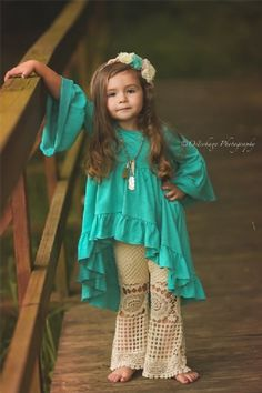 Girls Whirlwind Ruffle Tunic in Turquoise Now in Stock (Children's Fall Clothing). Girls Whirlwind Ruffle Tunic in Turquoise Frocks For Girls, Kids Frocks, Dresses Kids Girl, Little Girl Outfits, Little Girl Fashion, Toddler Outfits, Kids Outfits, Kids Fashion, Kids Dressy Clothes