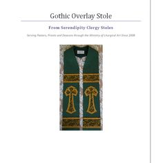 PDF DOWNLOAD  Clergy Stole Pattern and by ClergyStolePatterns  FYI - I would definitely omit the crosses and the fringe!!