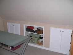 After making attic Haley's room could still have attic access! Plus build dresser drawers and shelves into wall for recessed storage for her!