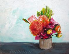 35 Off Sale  Acyrlic Painting  Summer Bouquet  8x10 by MaiAutumn, $19.50