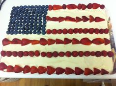 Our delicious cake from yesterday's July 4th celebration!