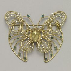 Marie Claude Lalique. Melusine Pin, ca. 1965