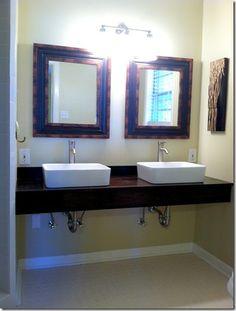 Live The Home Life: Master Bath: DIY Floating Vanity