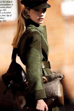 Harpers Bazaar Military Fashion