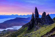 The 'Old Man of Storr' at dawn, Isle of Skye.  By Shaun Barr.
