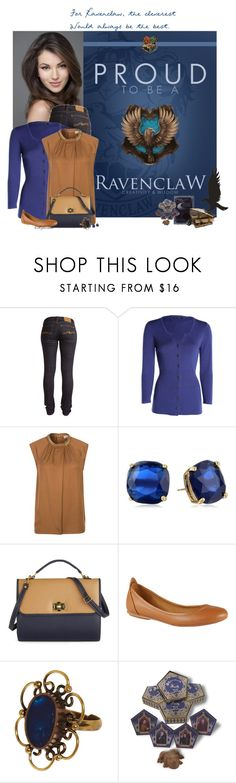 """""""Ravenclaw Inspired"""" by bitbyacullen ❤ liked on Polyvore featuring Nudie Jeans Co., NIC+ZOE, MICHAEL Michael Kors, Kate Spade, ALDO, harrypotter and ravenclaw"""