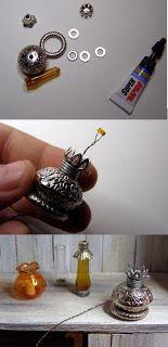Pequeñeces: DIY- Lámparas en miniatura- Miniature lamps