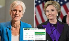 Jill Stein raises $2.2m in HOURS to recount Trump wins in 3 states #DailyMail....Oh for gosh sake's, Give it up already. Accept the Fact HINT: President Elect Donald Trump WON!!!!