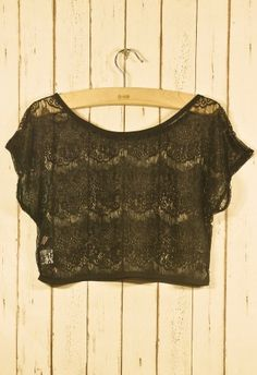 Lace Eyelashed Smock in Noir  #Chicwish   #Chicwish