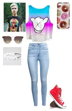 Kian lawley by rileyyyyyyyyy on Polyvore featuring polyvore, fashion, style, H&M, Converse, Full Tilt and Linda Farrow