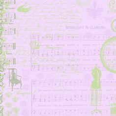 scrapbook paper green and purple
