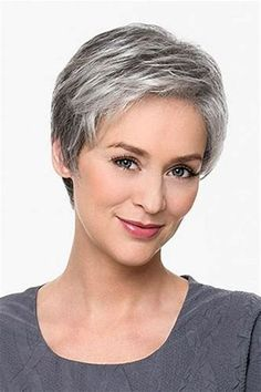 Resultado de imagen de short hair styles for women over 50 gray hair