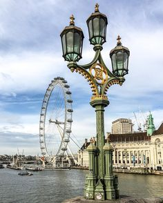 London Eye from Westminster Bridge, London