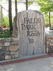 Entrance to the beautiful Falls Park in Greenville, SC
