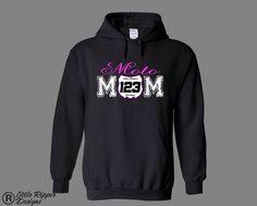 "Little Ripper Designs Customized with your # ""MotoMOM Number plate"" Hoodie Girls Dirt Bike T Shirt MX Moto Motocross Kids Supercross by LittleRipperDesigns on Etsy https://www.etsy.com/listing/219695842/little-ripper-designs-customized-with"