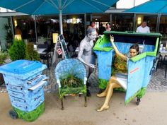 Wandelwerte Upcycling — Bunte Welt in alten Tonnen