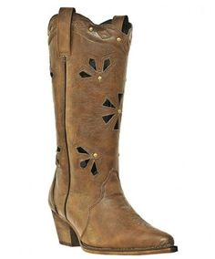 Dingo Women's Brown Cutout Cowgirl Fashion Boots - Boots