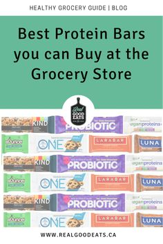 I've reviewed the Best Protein Bars you can Buy at the Grocery Store so you don't have to! Check out this dietitian review of the best protein bars available. #healthysnack #healthyeating #snackideas #dietitian #groceryshopping
