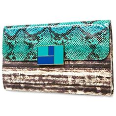 Duro Olowu for jcp Canvas & Faux Snakeskin Foldover Clutch - jcpenney