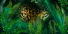 Jungle Eyes - Jaguar by Carol Calavaris