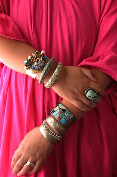 Layered and stacked jewelry    stacked: get the look   Justina Blakeney Est. 1979