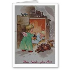 24 best italian christmas cards greetings images on pinterest retro italian christmas and new year greeting card m4hsunfo