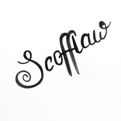 Some recent brush script handlettering I did #typography