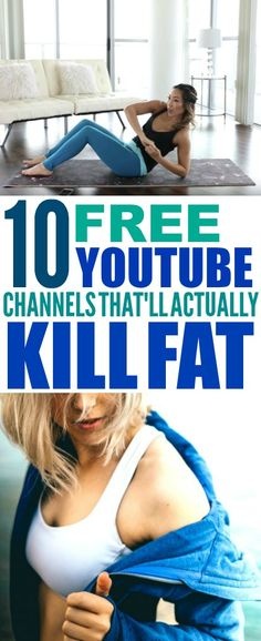 These 10 free fitness youtube channels are THE BEST! I'm so glad I found these AWESOME workout ideas! Now I have some great workout videos to watch to lose weight! Now I can do the 100 squat challenge! Such great workout motivation! #workoutmotivation #workoutchallenge #workout #workingout #exercise #workoutroutine #lifehacks #fitness #workoutforwomen #fitnessgoals